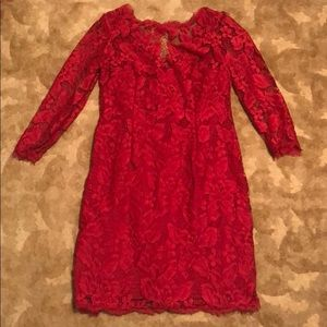 Red Adrianna Papell dress